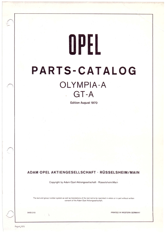 Olympia A and GT A Spareparts 1